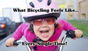 Bring out your inner child.  Ride your bike!