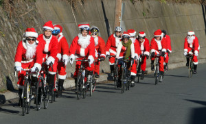 Cycling Santa's